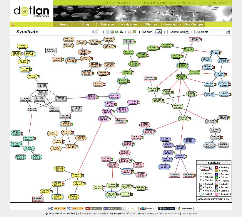 2009 - DOTLAN :: EveMaps Dotlan Maps on